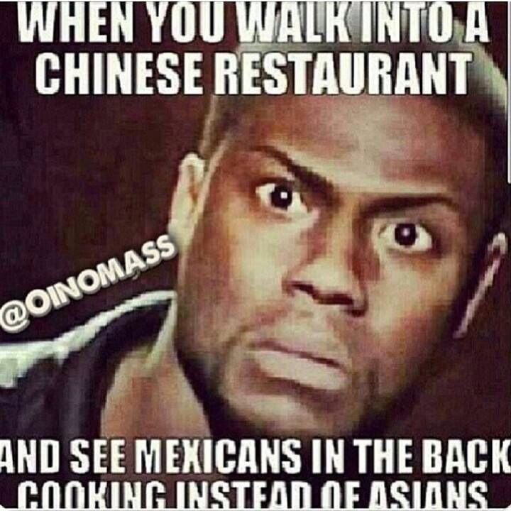 Mexicans cooking Chinese food