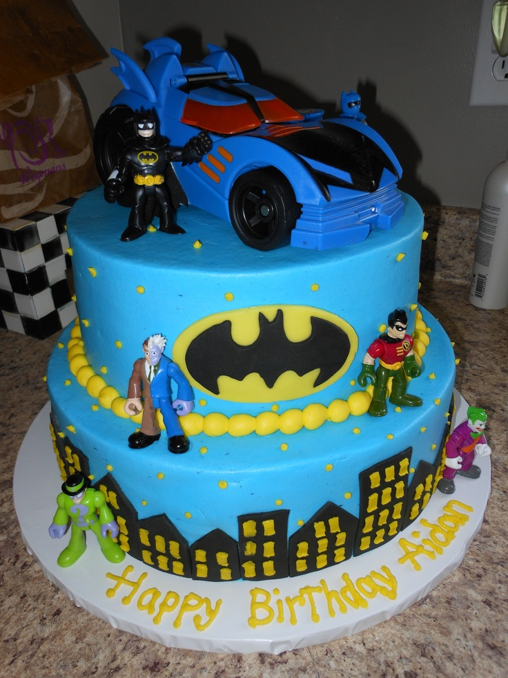 Batman Cake-Evan wants this for his birthday party.