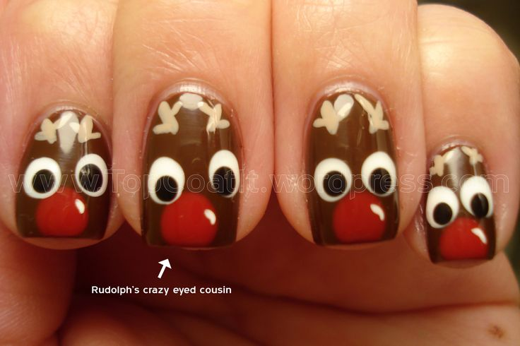 Rudolph nails.... perfect for Christmas!