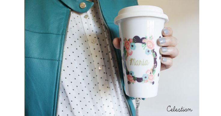 Cafés para llevar en las tazas con tapa Celestian. Son preciosas! #cafe #buenastardes #taza #regalos #navidad #pinterest