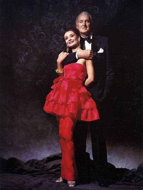 Hubert de #Givenchy et #Audrey Hepburn  1986 Photo Victor Skrebneski