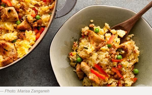 Chicken and Chorizo Paella - Hispanic Kitchen: Hispanickitchen, Healthy, Hispanic Kitchen