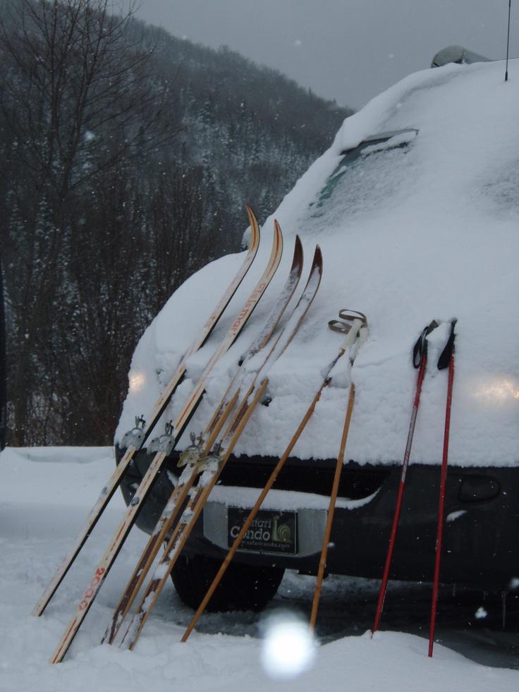 Une belle journée de ski de fond qui se termine.