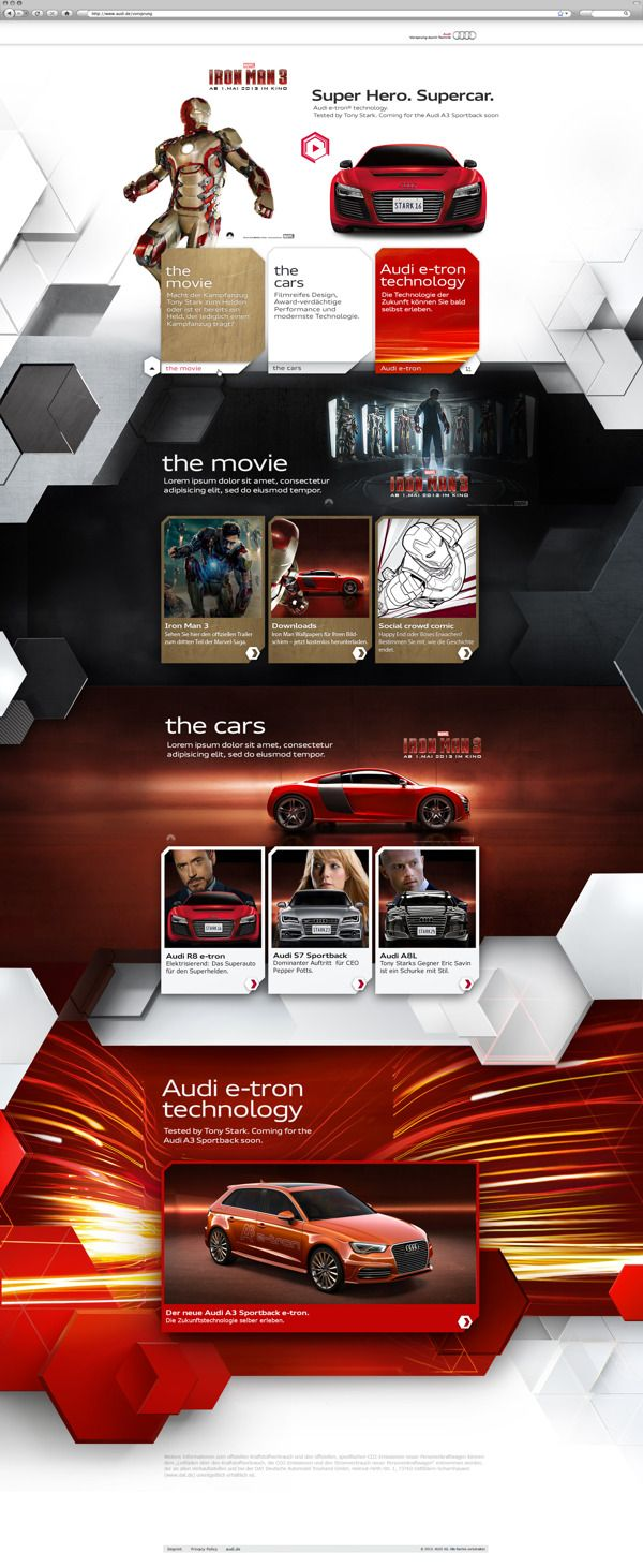 Iron Man 3 - Audi R8 e-tron | Dedigner: Christian Mies