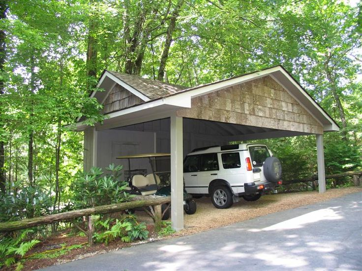 Carport with storage room off back sheds pinterest Carport with storage room