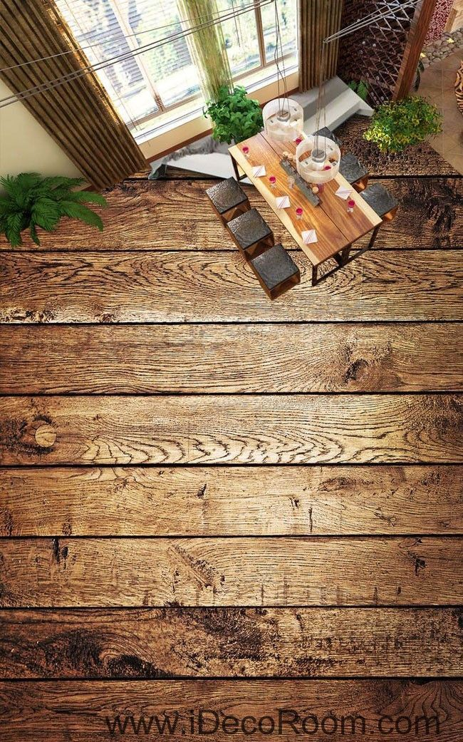 Wood Pattern 00089 Floor Decals 3D Wallpaper Wall Mural Stickers Print Art Bathroom Decor Living Room Kitchen Waterproof Business Home Office Gift