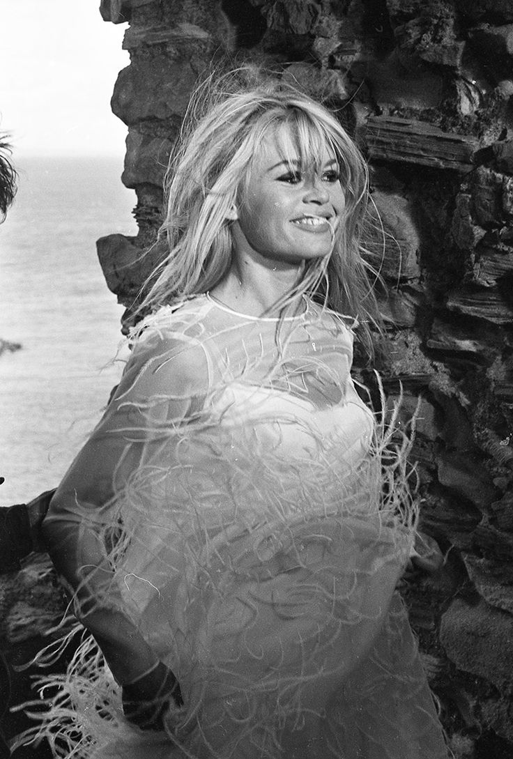 "Brigitte Bardot on the set of ""A Coeur Joie"", 1966                              …"