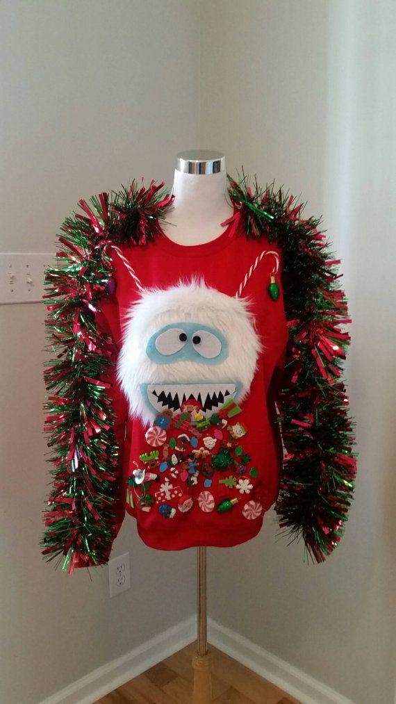 Ugly Christmas Sweater Abominable Snowman by UglySweatersForU