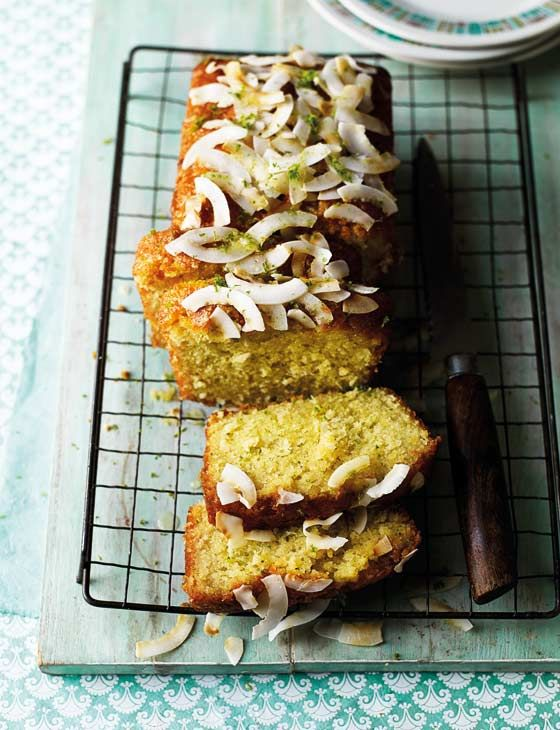 Lime and Coconut Drizzle Cake | recipe by Edd Kimber of #GBBO via Sainsbury's Magazine