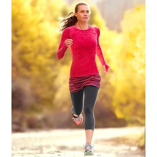 Painted Cuteness 2 In 1 Capri - Our lightest-weight 2-in-1 skirted capri thats perfect for indoor workouts and warm days.