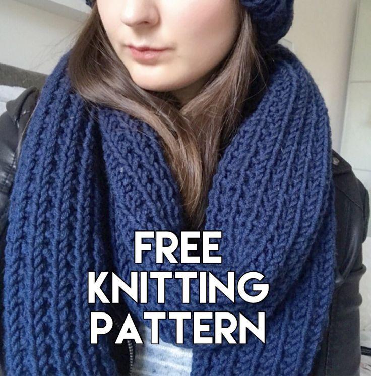 Blue Steel Chunky Scarf | Chunky scarf knitting pattern ...