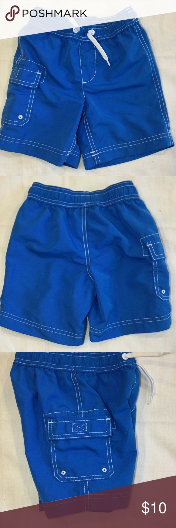 Lands End Boys Swim Shorts Trunks Mesh Lined. Lands End Boys Swim Shorts Trunks Mesh Lined Pocket Blue.This item are in very good used condition. Lands End Kids Swim Swim Trunks