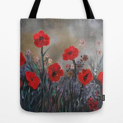 Impasto Poppy Love - Talins Poppy Love Tote Bag by Rokin Art by RokinRonda - $22.00