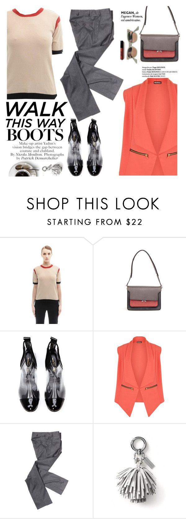 """""""Walk this way"""" by punnky ❤ liked on Polyvore featuring Marni, Comme des Garçons, WearAll, Libertine and Banana Republic"""