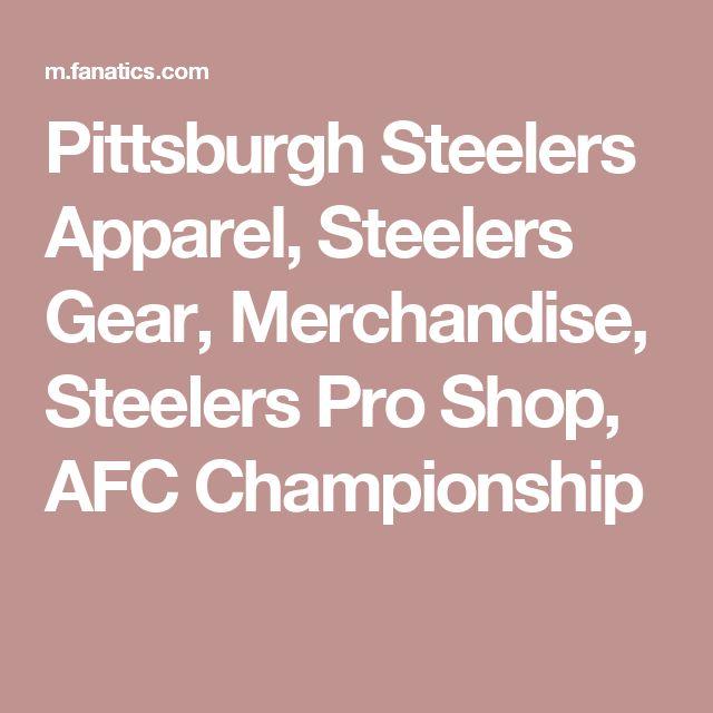 Pittsburgh Steelers Apparel, Steelers Gear, Merchandise, Steelers Pro Shop, AFC Championship