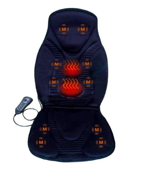 Amazon Com New Five Star Fs8812 10 Motor Vibration Massage Seat Cushion With Heat Neck Shoulder Back Thigh Back Massager Car Seat Cushion Good Massage