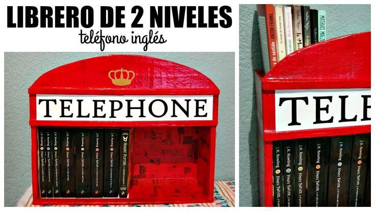 DIY! Librero de Cabina Telefónica ⚡ #3SemanasPotterhead | Ame Mayén
