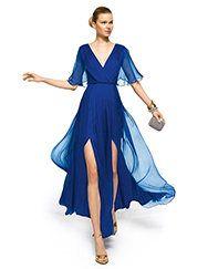 Pronovias apresenta o seu vestido de festa Zambra da coleção Compridos 2013. | Pronovias