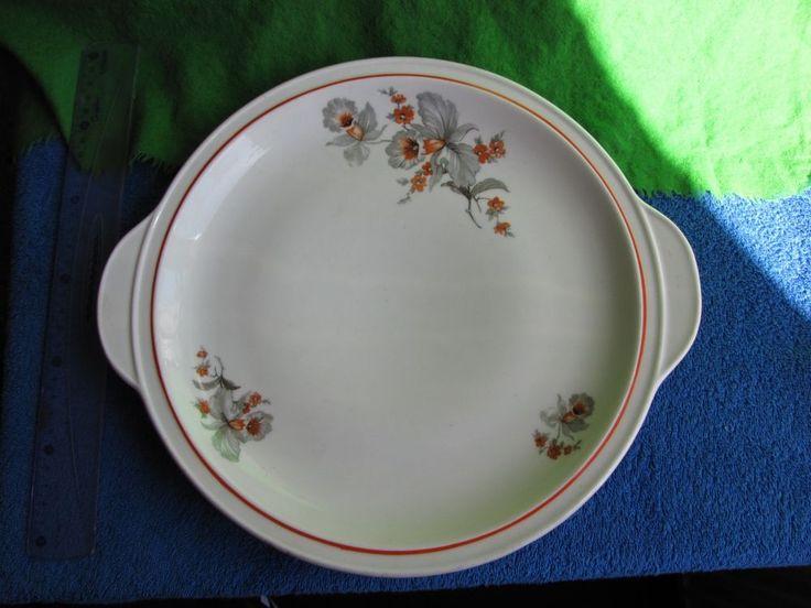 Vintage USSR Russia Latvia Factory Rigas Keramikas Fabrika Large Plate Dish  #19