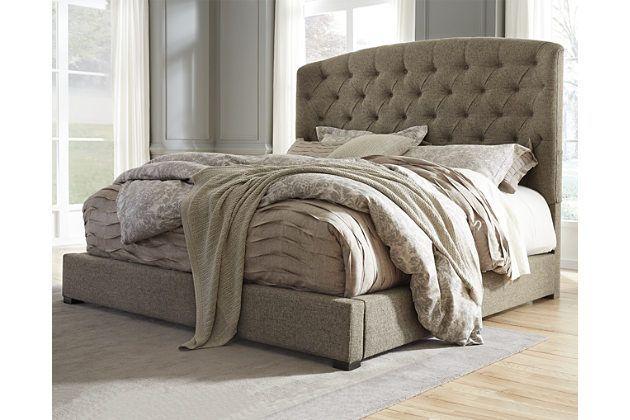 Gerlane California King Upholstered Bed by Ashley HomeStore, Gray