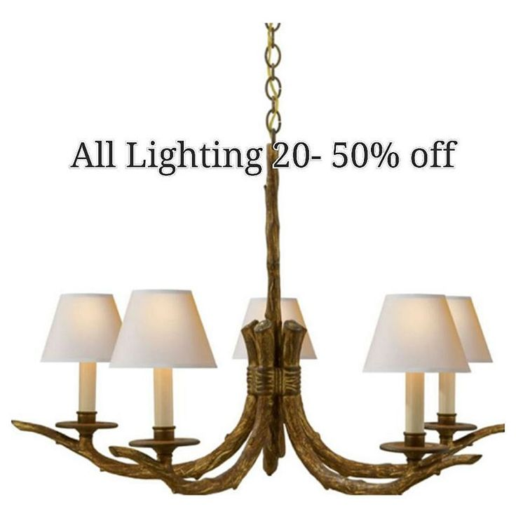 all visual comfort is on sale off any special orders and off of instock lighting