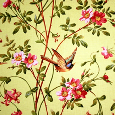 so sweet...you never see fabrics with realistic birds in flight!