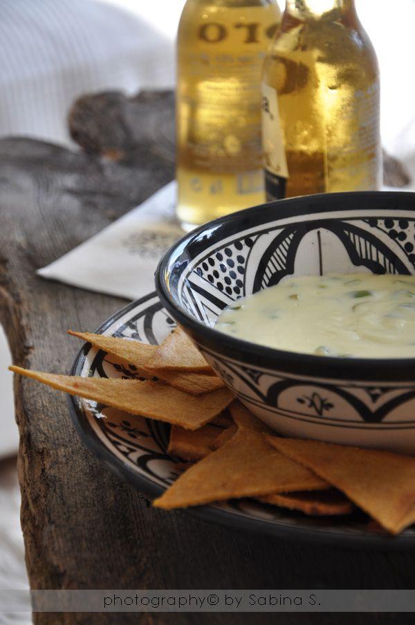 Salsa messicana al formaggio per nachos
