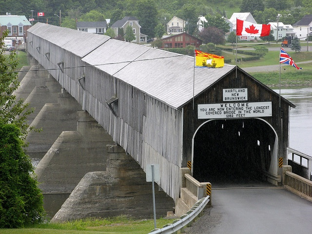The Longest Covered Bridge in the World ~ Hartland, New Brunswick, Canada