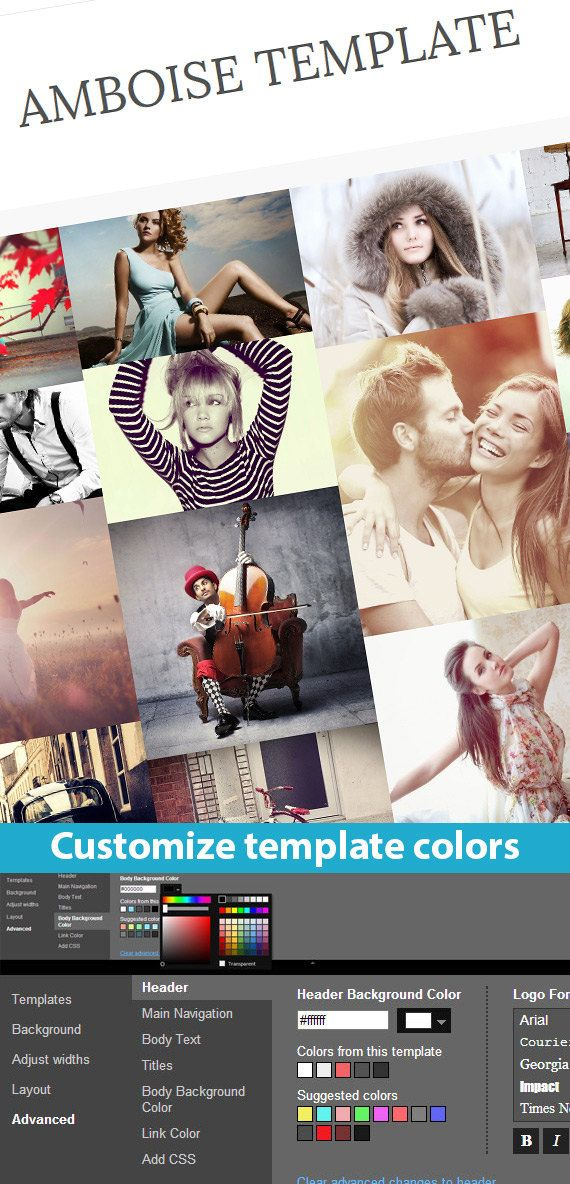 Etsy Blogger Template called Amboise by BloggerTemplate