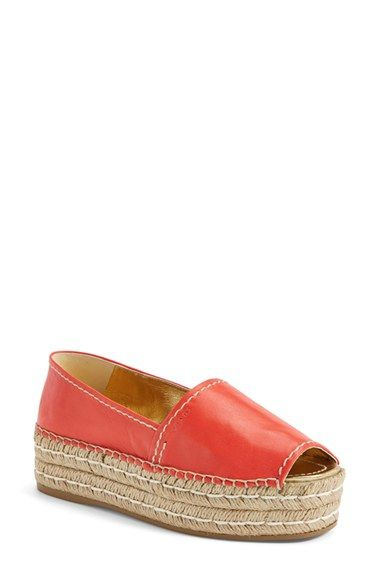 Prada Open Toe Leather Espadrille (Women) available at #Nordstrom
