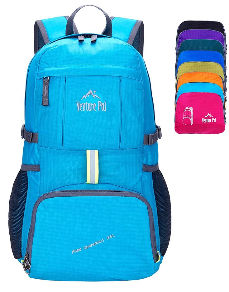 Amazon.com : Venture Pal Ultralight Lightweight Packable Foldable Travel Camping Hiking Outdoor Sports Backpack Daypack (Blue) : Sports & Outdoors