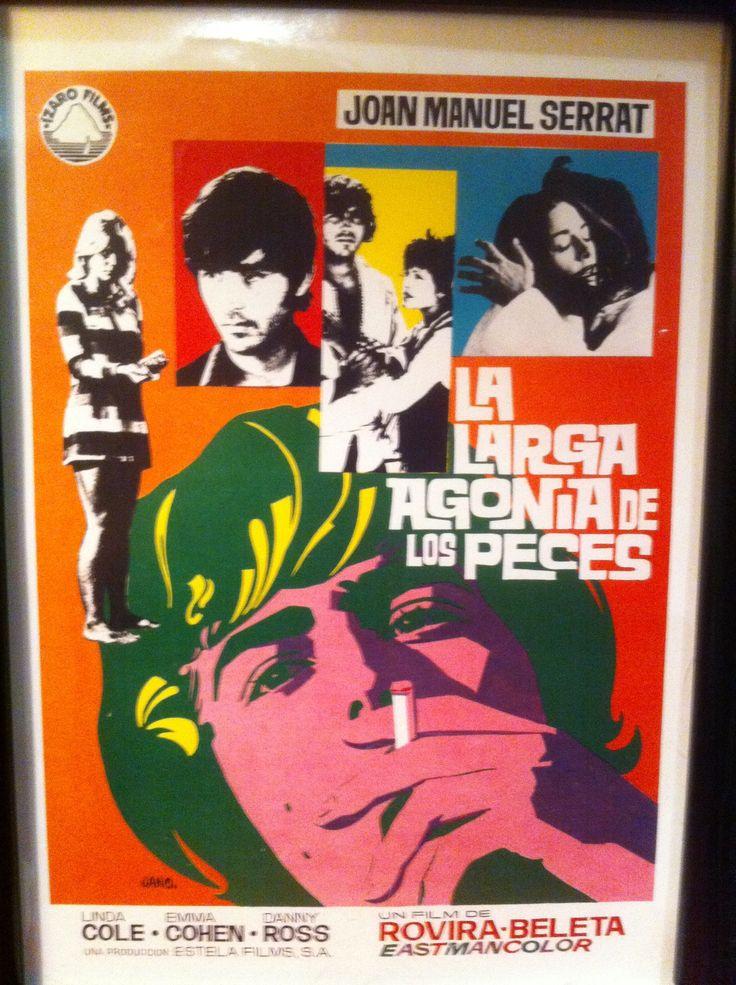 """""""La larga agonía de los peces fuera del agua"""", Francisco Rovira Beleta, 1970. Con Joan Manuel Serrat, Linda Cole, Emma Cohen..."""