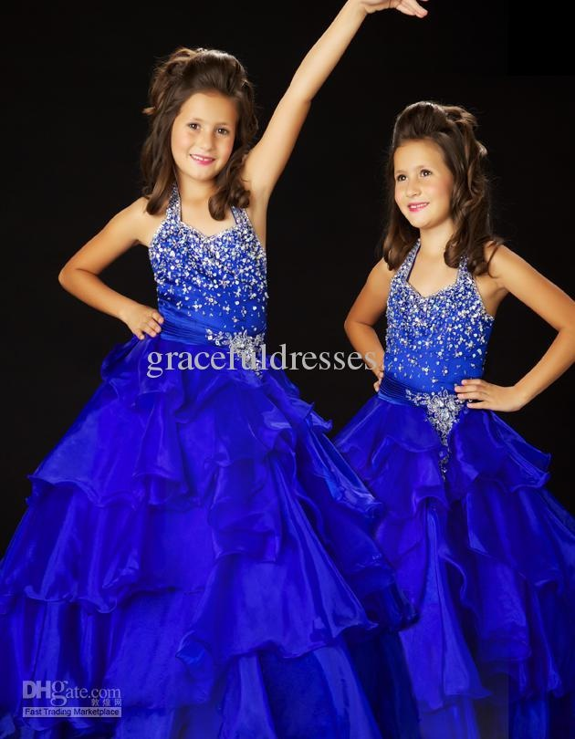 Wholesale Hot New Pink Princess Pageant dresses for weddings Kids evening gowns flower girls dresses 2013 f200, Free shipping, $89.6-95.2/Piece | DHgate