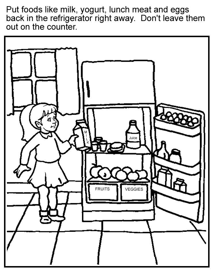 kids coloring pages nutrition foods - photo#20