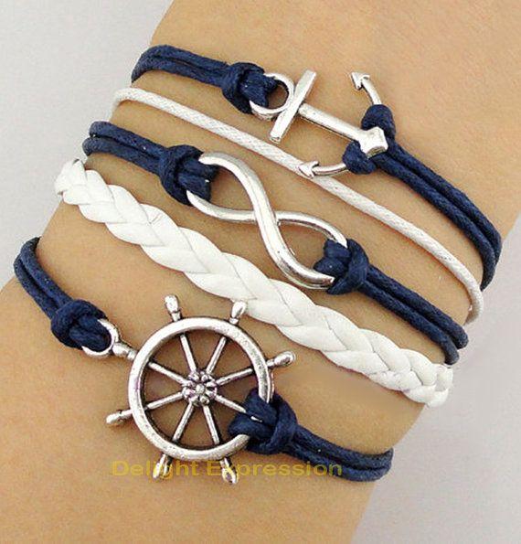 Bracelet roue de bateau gouvernail ancre Les par DelightExpression, $3.99