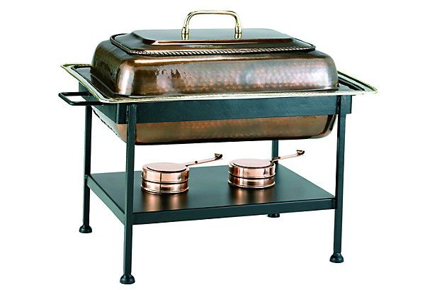 One Kings Lane - Down to Earth - 8 Qt Chafing Dish, Antique Copper