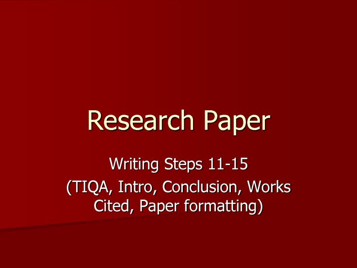 creating an outline for a research paper powerpoint