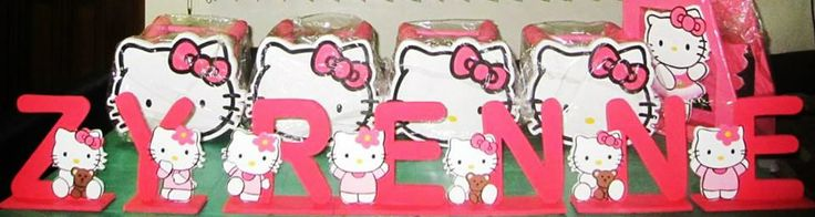 Hello Kitty Themed letter Standees