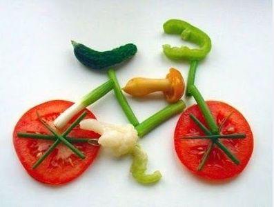 Groenten fiets