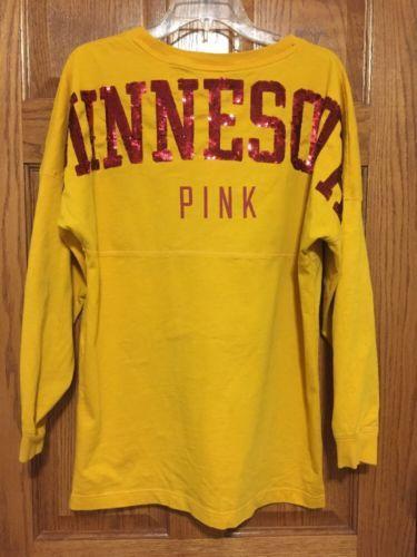 Victoria-039-s-Secret-PINK-University-of-Minnesota-Gophers-Long-Sleeve-Medium