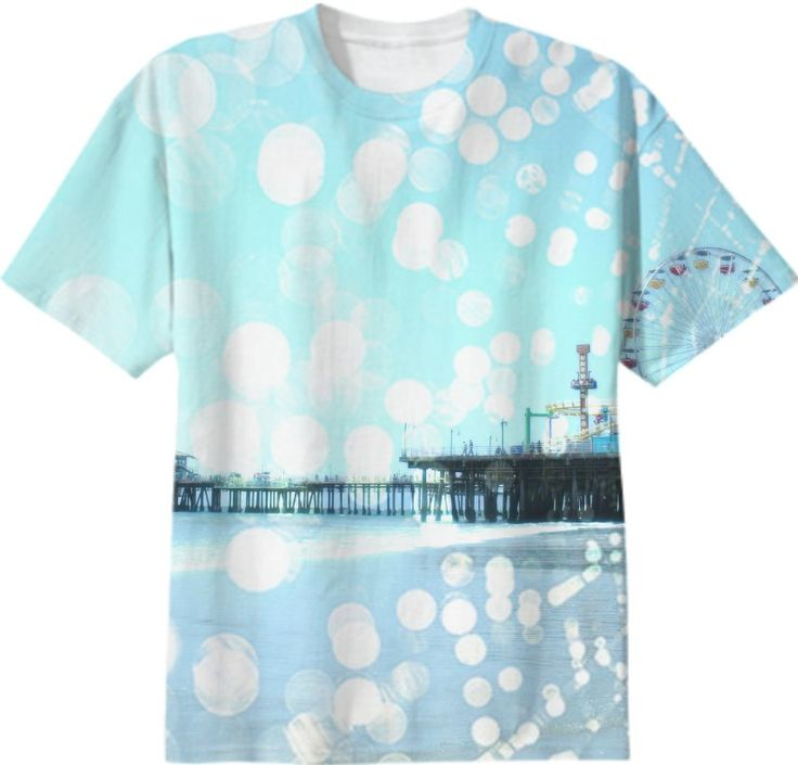 Turquoise Santa Monica Pier Spiderweb from Print All Over Me