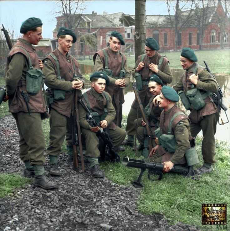 British soldiers of the 1/4th KOYLI, 146th Infantry Brigade, 49th (West Riding) Division in Elst, Netherlands on 2 March 1945