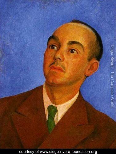 Portrait of Carlos Pellicer (Retrato de Carlos Pellicer) 1942 - Diego Rivera - www.diego-rivera-foundation.org