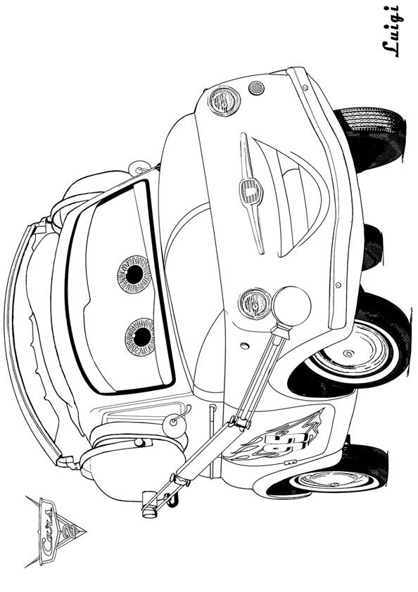 disney cars coloring pages luigi - photo#11