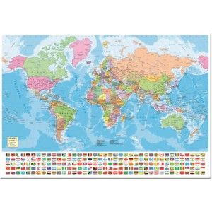 A full map of the world with over 175 National flags displayed across the bottom! Familiarize yourself with all the many nations and groups that share this planet as home. Educa puzzles are known around the world for their quality standards, using green & blue boards which create exact piece fits and greatly reduces puzzle dust. As well, every Educa puzzle between 500 and 2000 pieces includes puzzle glue for preserving your success, and a Puzzle Piece Replacement Guarantee through which t...