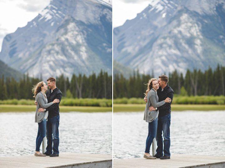 banff mountain engagement vermilion lakes
