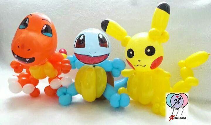 Pokemon balloons #pikachu #charmander #squirtle #balloonart