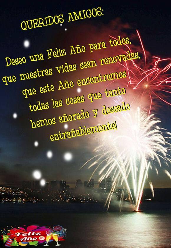 Feñiz Año Para Compartir Con Los Amigos Feliz Año Nuevo