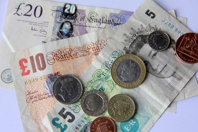 Dinheiro em Londres - notas