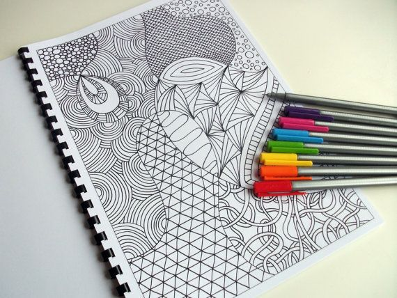 would it be weird if i brought this to do on the plane? Coloring Book, Zentangle Inspired Printable Fun for Kids, 12 Intricate Coloring Patterns, Zendoodles to Color